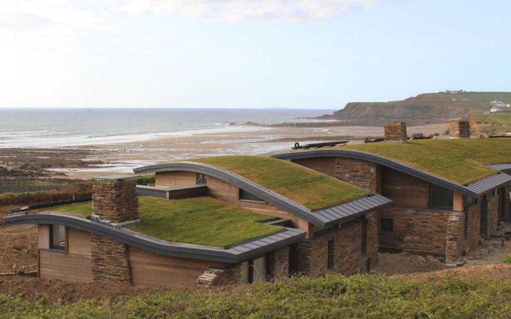 Atlantic View Bespoke Beach Cottages Widemouth Bay designed by Cornwall Architects The Bazeley Partnership