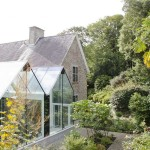 Structural Glass Conservatory Cornwall designed by Architects The Bazeley Partnership