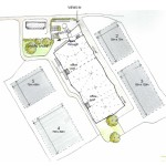 Malvern Hills Business Park Concept Site Layout by The Bazeley Partnership Architects in Cornwall