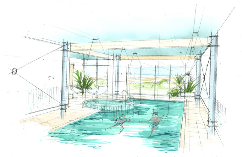 The Bazeley Partnership Cornwall Architects Design Sketchbook Concept Sketch