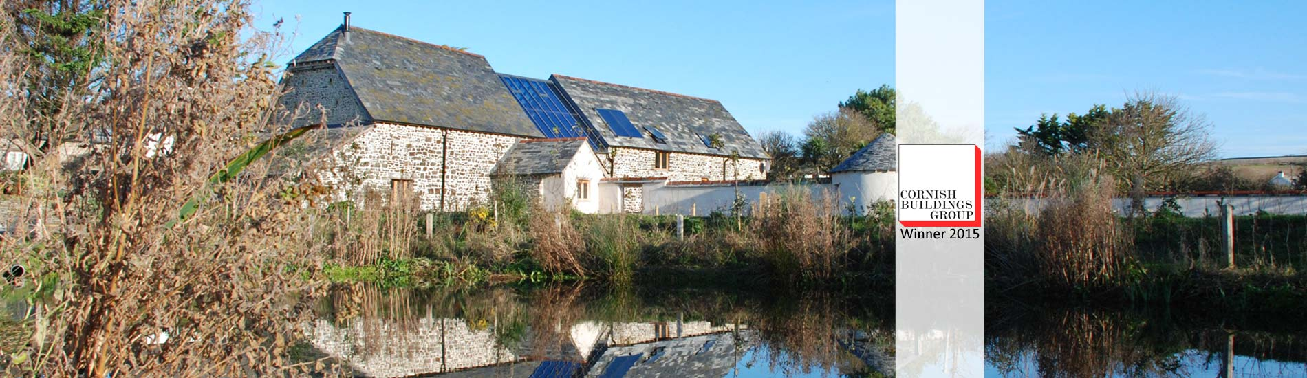 Maer Barn Bude Cornish Buildings Group Award Winner 2015 Architects in Cornwall The Bazeley Partnership