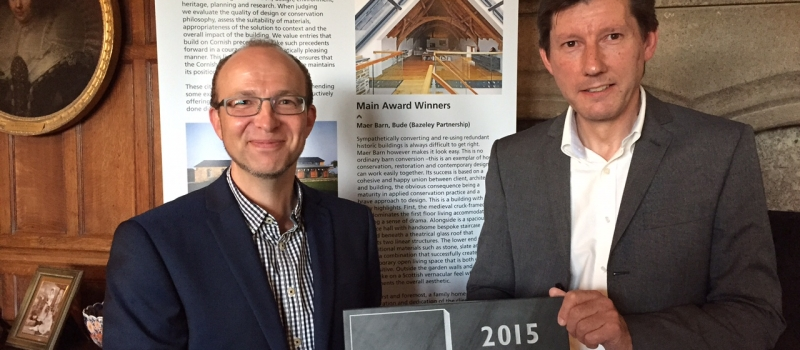 Cornish Buildings Group Awards 2015 Winners Maer Barn The Bazeley Partnership Architects in Cornwall
