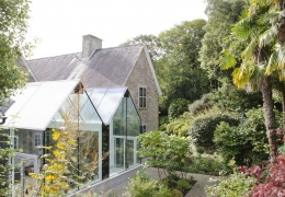 Glass Conservatory, Listed Manor House, Cornwall