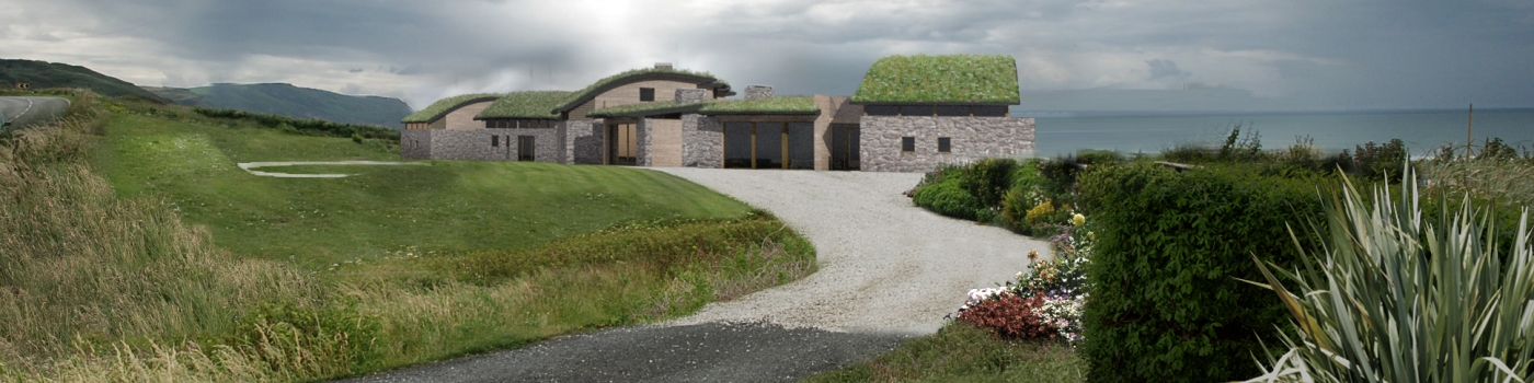 Visualisation of Atlantic View Widemouth Bay Bude designed by The Bazeley Partnership Architects in Cornwall
