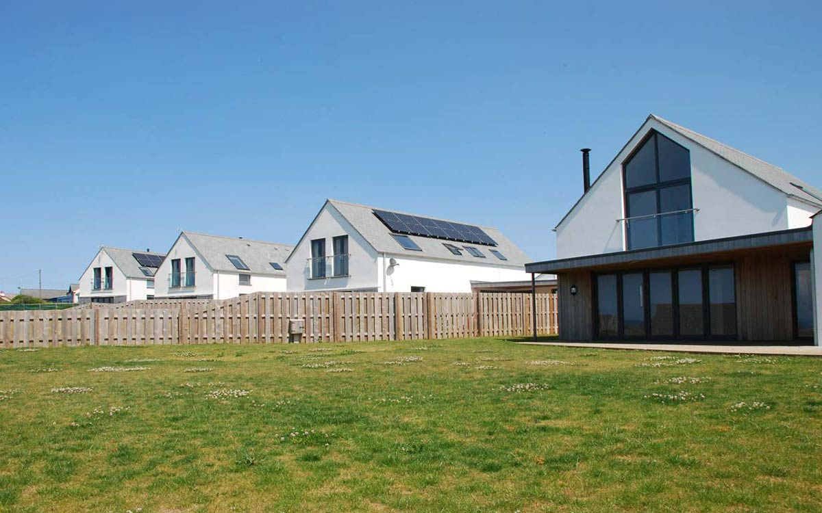 Outspan Widemouth Bay Beach Cottages Roofing by The Bazeley Partnership Architects in Cornwall