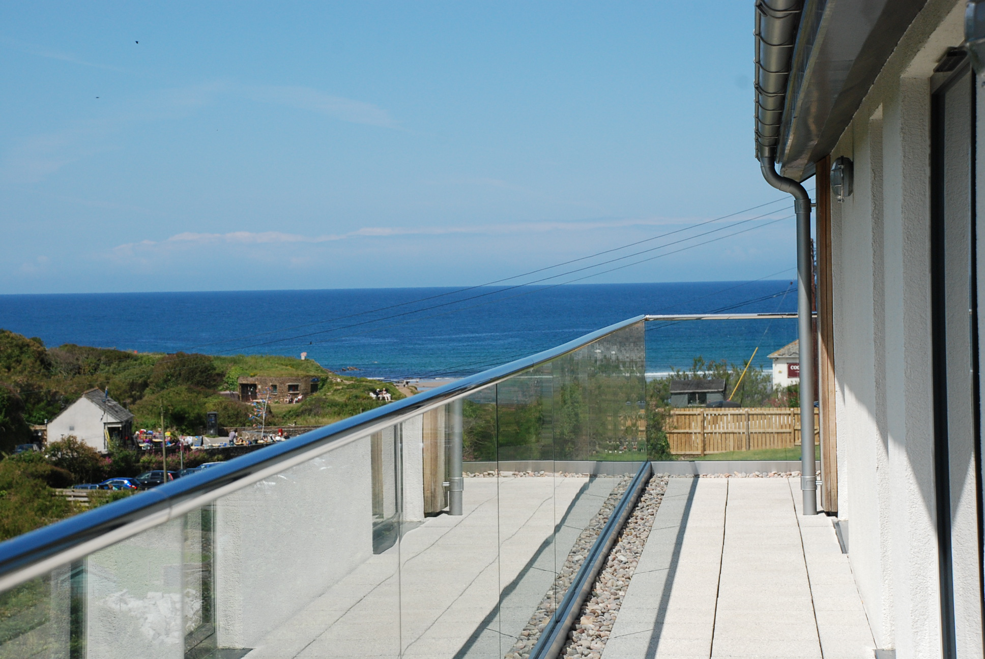 View over Crackington Haven from Grey Roofs, designed by Cornwall Architects The Bazeley Partnership