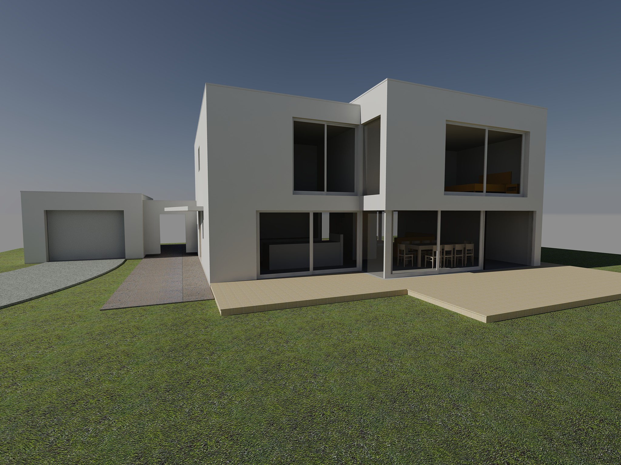 Imagery for new home in Cornwall designed by Architects The Bazeley Partnership - approved for planning