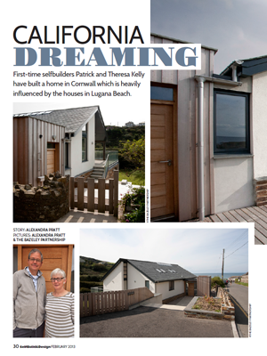 Publication Grey Roofs Self Build and Design Magazine Feature The Bazeley Partnership Architects in Cornwall