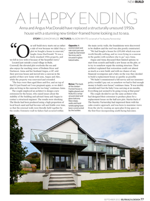 Macdonald Home Publication Self Build & Design Magazine The Bazeley Partnership Architects in Cornwall