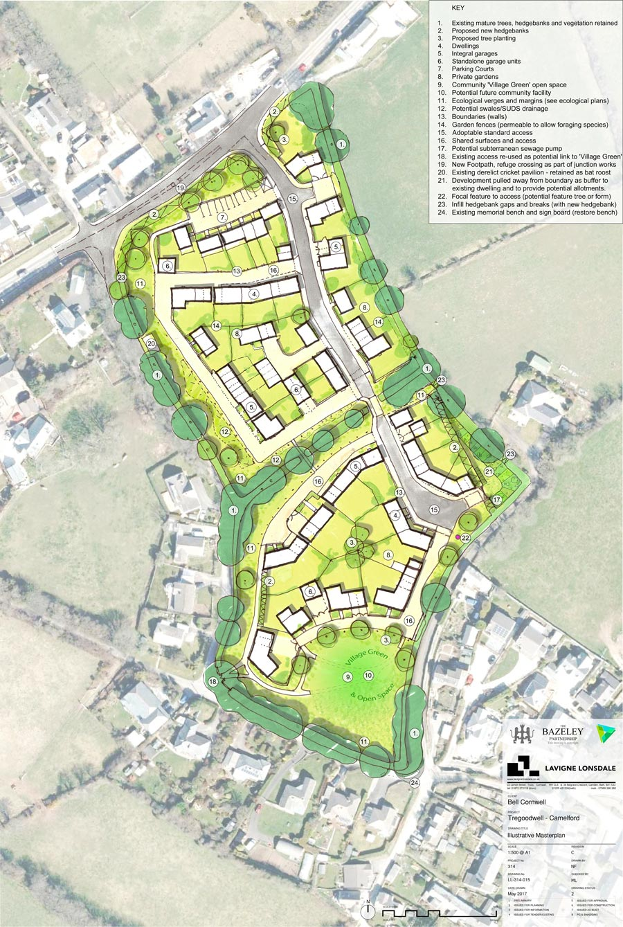 Camelford Housing Development designed by Cornwall Architects The Bazeley Partnership